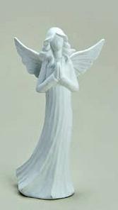 Ängel, vit, keramik 18 cm c