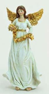 Ängel vit-guld 15 cm b