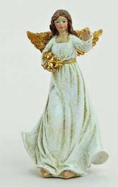 Ängel vit-guld 10 cm  a