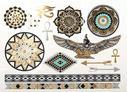 Egyptisk mystik metalltatuering